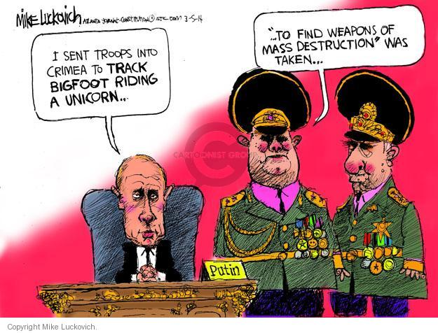 Cartoonist Mike Luckovich  Mike Luckovich's Editorial Cartoons 2014-03-05 Bush administration