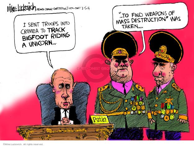 Cartoonist Mike Luckovich  Mike Luckovich's Editorial Cartoons 2014-03-05 Russia Ukraine