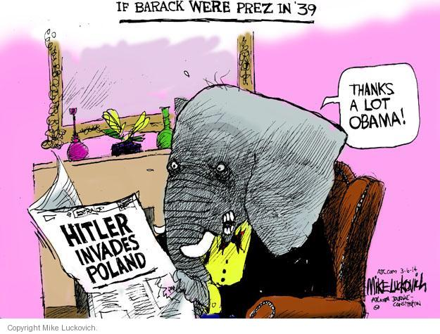 Cartoonist Mike Luckovich  Mike Luckovich's Editorial Cartoons 2014-03-06 Barack Obama Russia