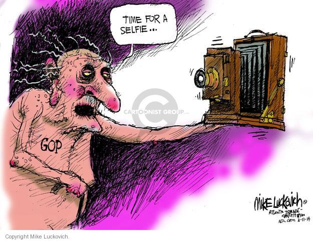 Cartoonist Mike Luckovich  Mike Luckovich's Editorial Cartoons 2014-03-11 aging