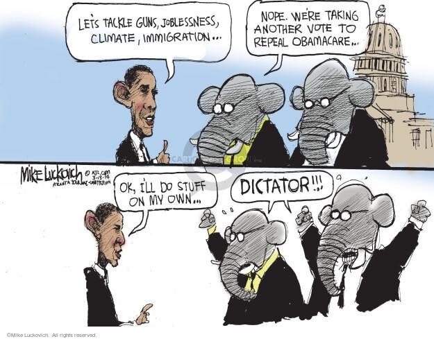 Cartoonist Mike Luckovich  Mike Luckovich's Editorial Cartoons 2014-03-13 congress health care
