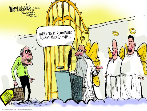 Cartoonist Mike Luckovich  Mike Luckovich's Editorial Cartoons 2014-03-21 Steve