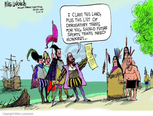 Cartoonist Mike Luckovich  Mike Luckovich's Editorial Cartoons 2014-03-31 ethnicity