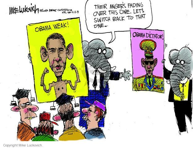 Cartoonist Mike Luckovich  Mike Luckovich's Editorial Cartoons 2014-04-02 partisan politics