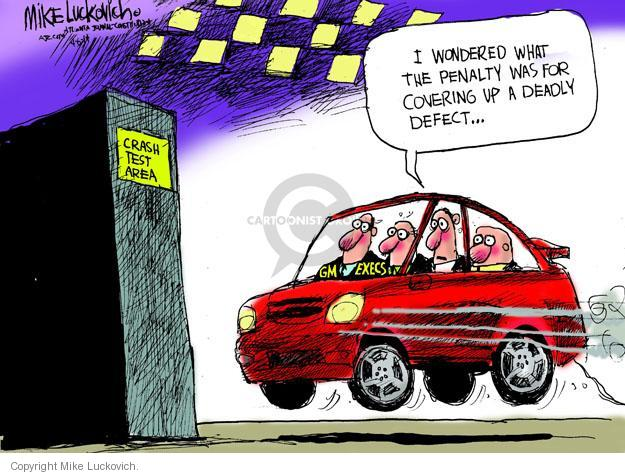 Cartoonist Mike Luckovich  Mike Luckovich's Editorial Cartoons 2014-04-06 accident
