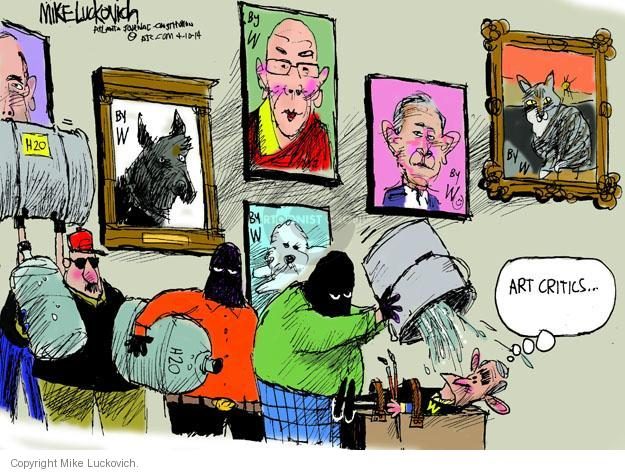 Cartoonist Mike Luckovich  Mike Luckovich's Editorial Cartoons 2014-04-10 George Bush painting