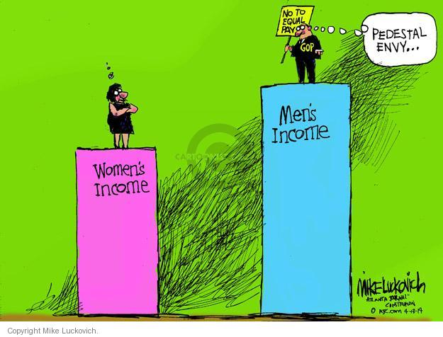 Cartoonist Mike Luckovich  Mike Luckovich's Editorial Cartoons 2014-04-13 woman