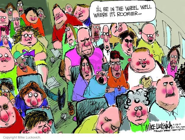 Mike Luckovich  Mike Luckovich's Editorial Cartoons 2014-04-23 airplane seat