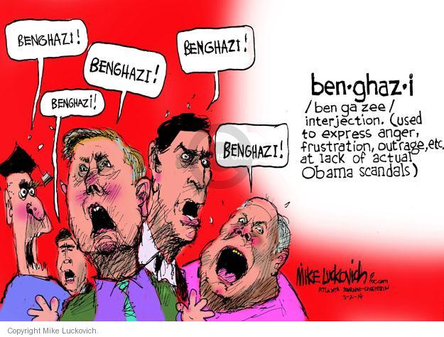 Mike Luckovich  Mike Luckovich's Editorial Cartoons 2014-05-02 Benghazi