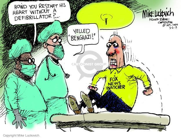 Mike Luckovich  Mike Luckovich's Editorial Cartoons 2014-05-06 Benghazi