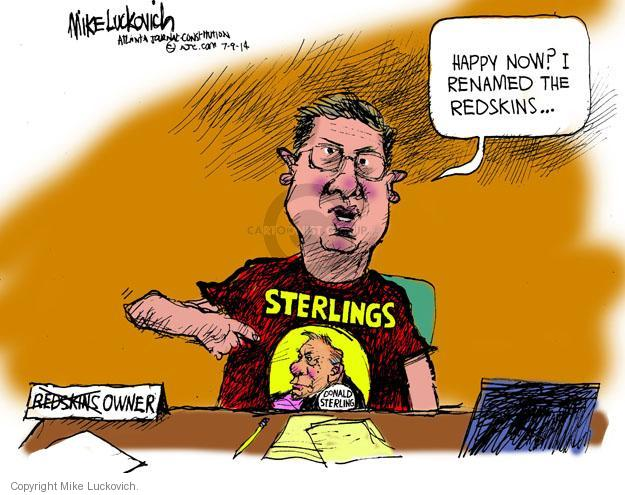 Cartoonist Mike Luckovich  Mike Luckovich's Editorial Cartoons 2014-05-09 ethnicity