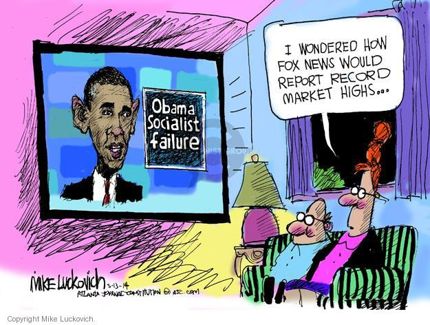Mike Luckovich  Mike Luckovich's Editorial Cartoons 2014-05-13 media criticism