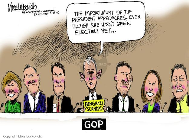 Cartoonist Mike Luckovich  Mike Luckovich's Editorial Cartoons 2014-05-14 Clinton impeachment