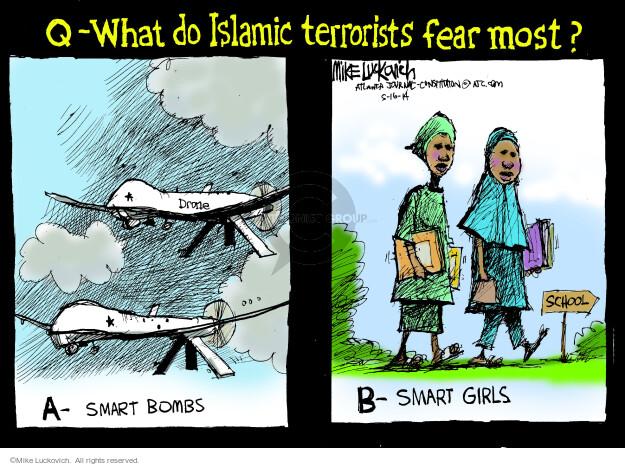 Cartoonist Mike Luckovich  Mike Luckovich's Editorial Cartoons 2014-05-16 girl