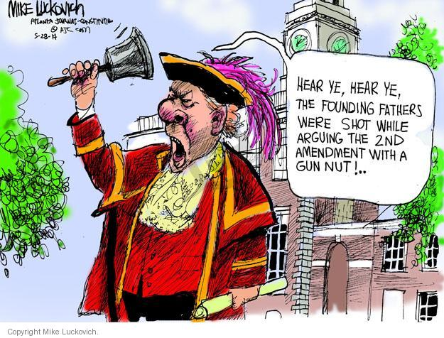 Mike Luckovich  Mike Luckovich's Editorial Cartoons 2014-05-28 founding father