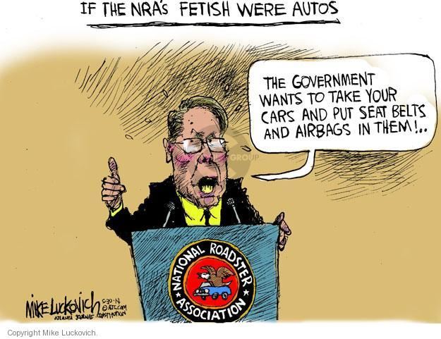 Cartoonist Mike Luckovich  Mike Luckovich's Editorial Cartoons 2014-05-30 weaponry