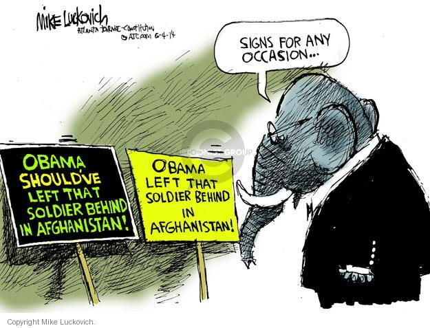 Mike Luckovich  Mike Luckovich's Editorial Cartoons 2014-06-04 Obama terrorism