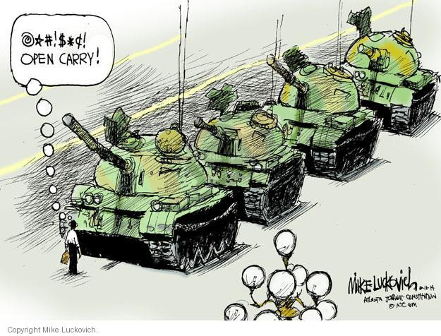 Cartoonist Mike Luckovich  Mike Luckovich's Editorial Cartoons 2014-06-10 weaponry