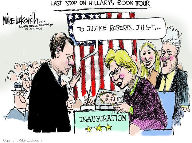Cartoonist Mike Luckovich  Mike Luckovich's Editorial Cartoons 2014-06-11 book tour