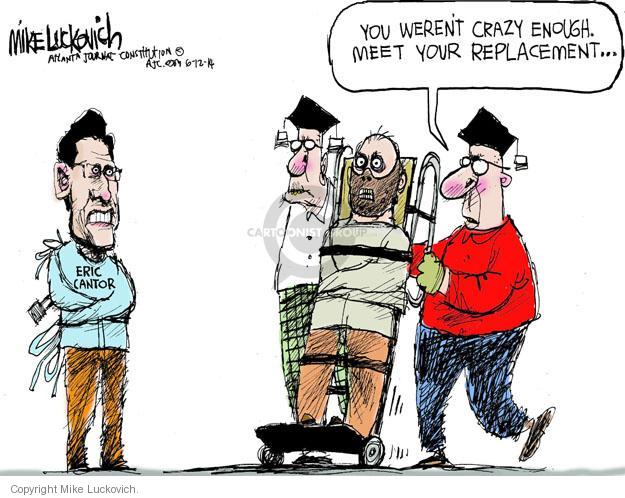 Mike Luckovich  Mike Luckovich's Editorial Cartoons 2014-06-12 congressional leadership