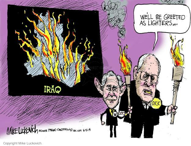 Cartoonist Mike Luckovich  Mike Luckovich's Editorial Cartoons 2014-06-13 Bush administration