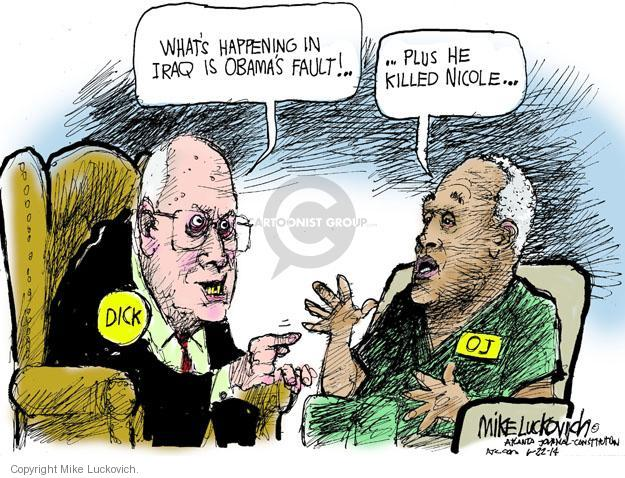 Cartoonist Mike Luckovich  Mike Luckovich's Editorial Cartoons 2014-06-22 Cheney Obama