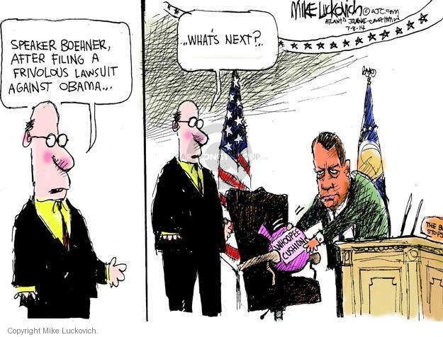 Mike Luckovich  Mike Luckovich's Editorial Cartoons 2014-07-08 Obama Boehner