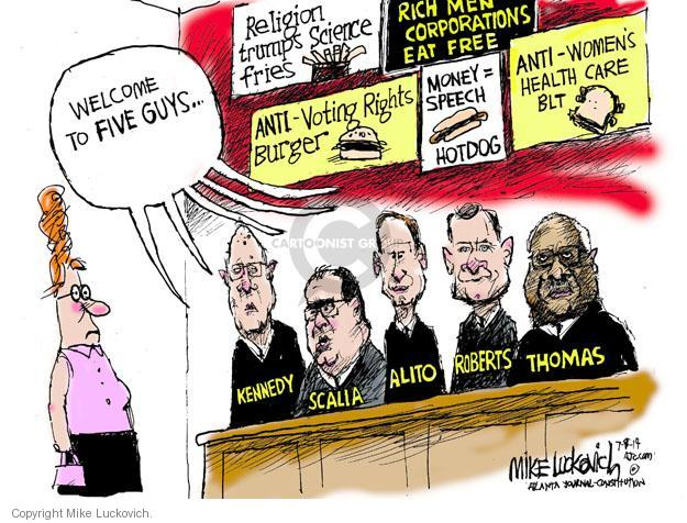 Mike Luckovich  Mike Luckovich's Editorial Cartoons 2014-07-09 freedom of speech