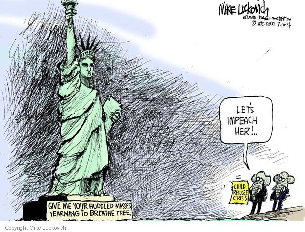 Mike Luckovich  Mike Luckovich's Editorial Cartoons 2014-07-10 border security