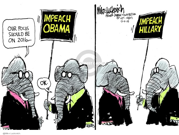 Cartoonist Mike Luckovich  Mike Luckovich's Editorial Cartoons 2014-07-11 Clinton impeachment