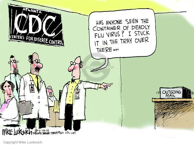 Mike Luckovich  Mike Luckovich's Editorial Cartoons 2014-07-15 disease prevention
