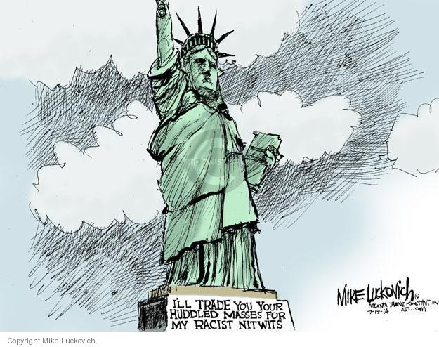 Mike Luckovich  Mike Luckovich's Editorial Cartoons 2014-07-17 racism