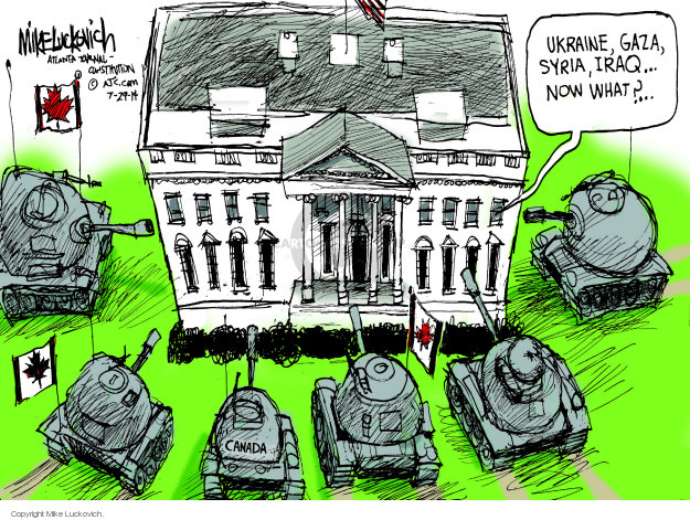Mike Luckovich  Mike Luckovich's Editorial Cartoons 2014-07-29 tank