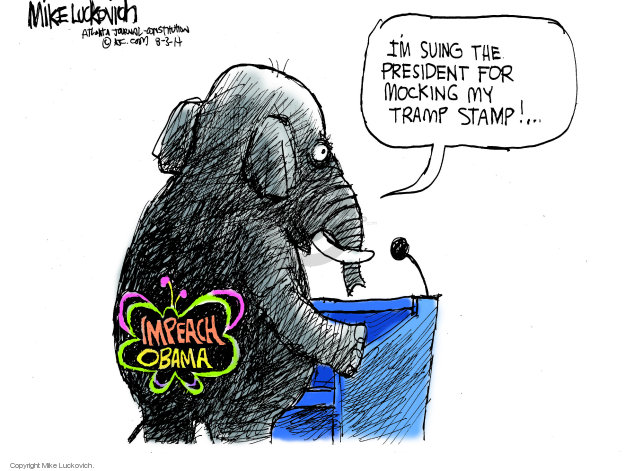 Mike Luckovich  Mike Luckovich's Editorial Cartoons 2014-07-31 partisan
