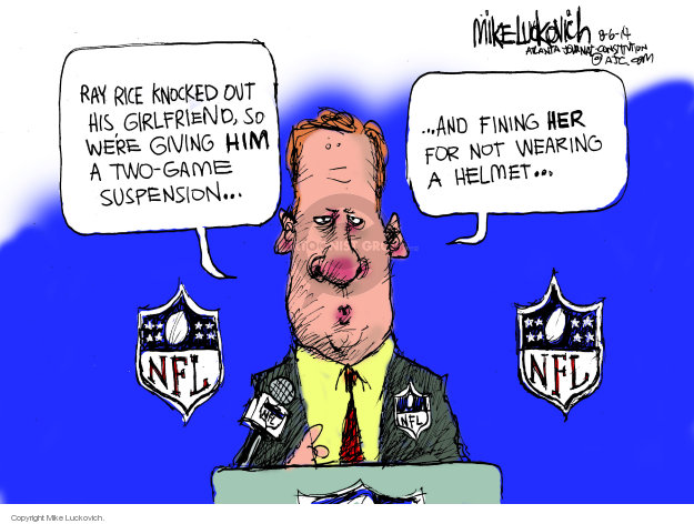 Mike Luckovich  Mike Luckovich's Editorial Cartoons 2014-08-06 NFL