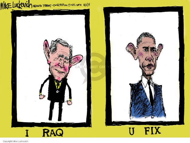 Cartoonist Mike Luckovich  Mike Luckovich's Editorial Cartoons 2014-08-12 Bush administration