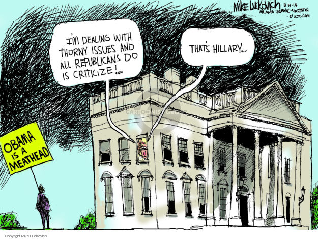Mike Luckovich  Mike Luckovich's Editorial Cartoons 2014-08-14 Obama republicans