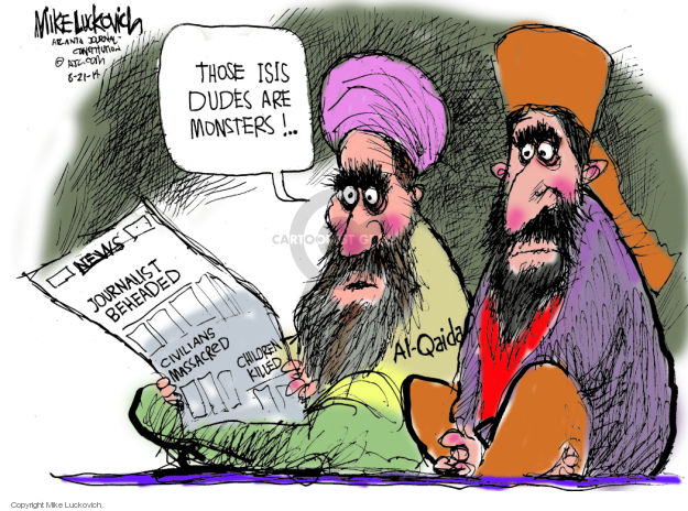 Mike Luckovich  Mike Luckovich's Editorial Cartoons 2014-08-21 sectarian violence