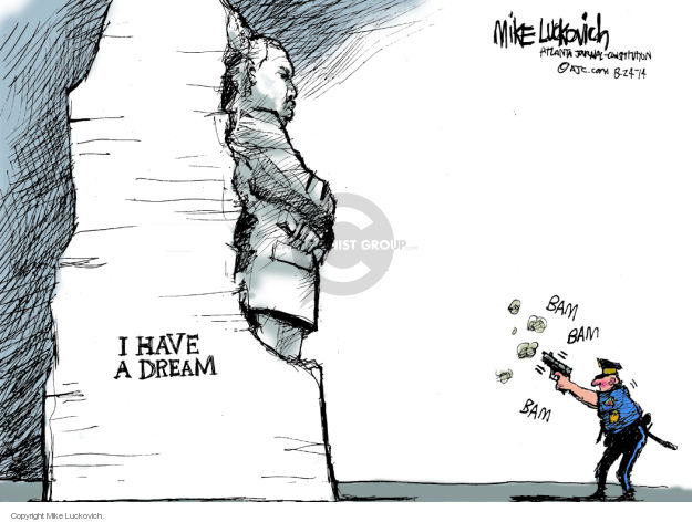 Cartoonist Mike Luckovich  Mike Luckovich's Editorial Cartoons 2014-08-24 African