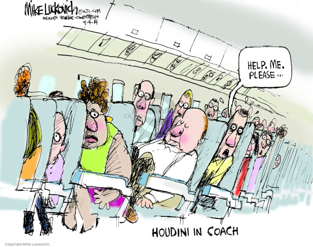 Mike Luckovich  Mike Luckovich's Editorial Cartoons 2014-09-04 airplane seat