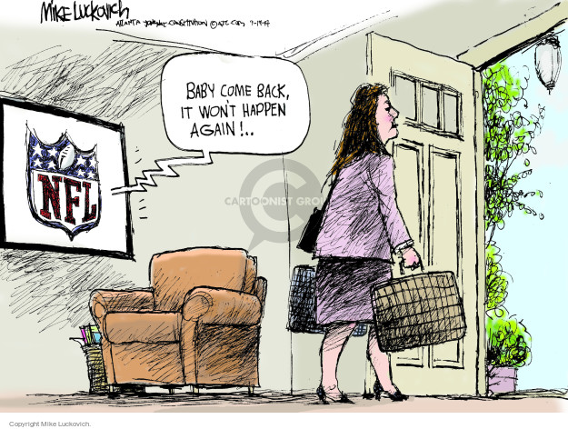Mike Luckovich  Mike Luckovich's Editorial Cartoons 2014-09-19 NFL