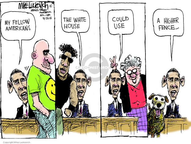 Mike Luckovich  Mike Luckovich's Editorial Cartoons 2014-09-24 security
