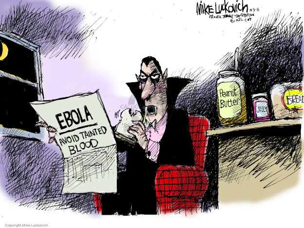 Mike Luckovich  Mike Luckovich's Editorial Cartoons 2014-10-03 infectious disease