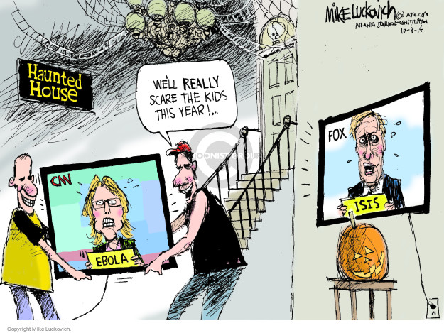 Mike Luckovich  Mike Luckovich's Editorial Cartoons 2014-10-09 Halloween