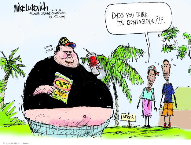 Mike Luckovich  Mike Luckovich's Editorial Cartoons 2014-10-14 infectious disease