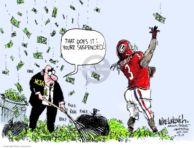 Cartoonist Mike Luckovich  Mike Luckovich's Editorial Cartoons 2014-10-15 profit