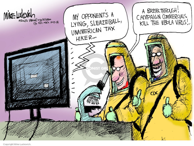Mike Luckovich  Mike Luckovich's Editorial Cartoons 2014-10-17 infectious disease
