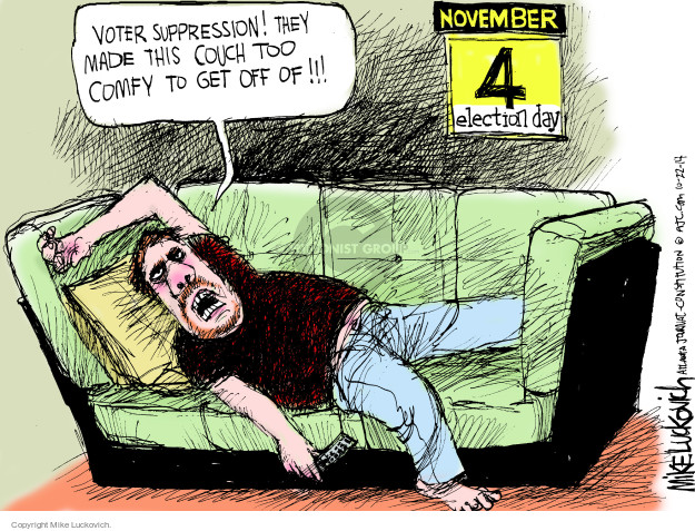 Cartoonist Mike Luckovich  Mike Luckovich's Editorial Cartoons 2014-10-22 blame