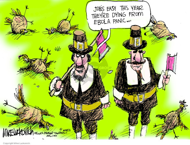Mike Luckovich  Mike Luckovich's Editorial Cartoons 2014-10-28 infectious disease