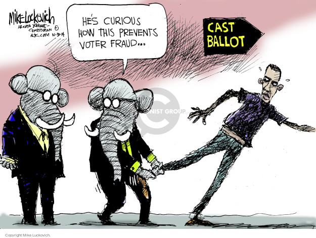 Mike Luckovich  Mike Luckovich's Editorial Cartoons 2014-10-30 fraud
